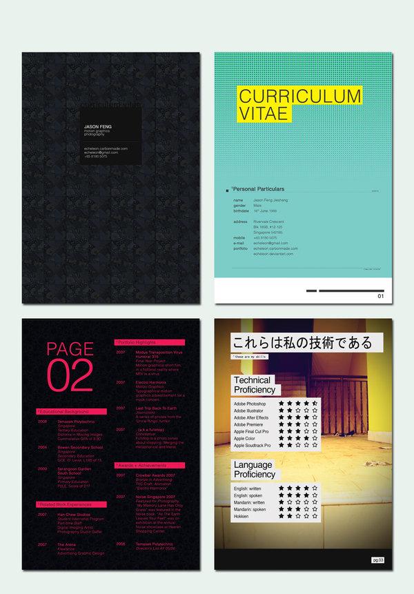 curriculum vitae 2 0 by echeleon1 Creative resumes