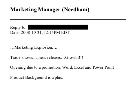 marketing manager post Lazy job descriptions