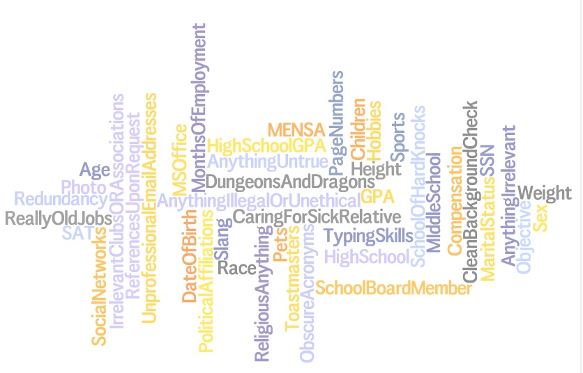 fishdogs wordle Top 10 Things to Leave Off Your Resume