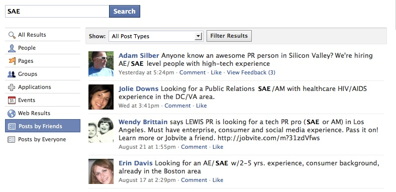 facebook search Quick Tip: Job Searching on Facebook