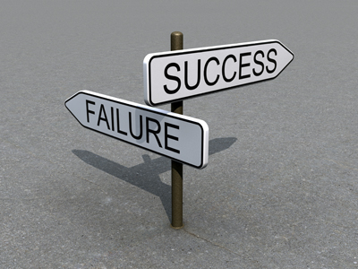 success fail sign 5 Reasons Your Job Search Has Failed